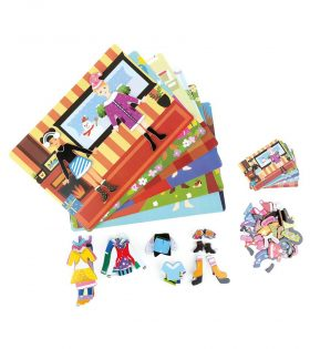 Girl Magnetic Puzzle Game