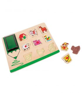 Farm Stamp and Puzzle by Legler