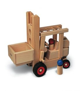 Wooden Forklift Toy for Kids